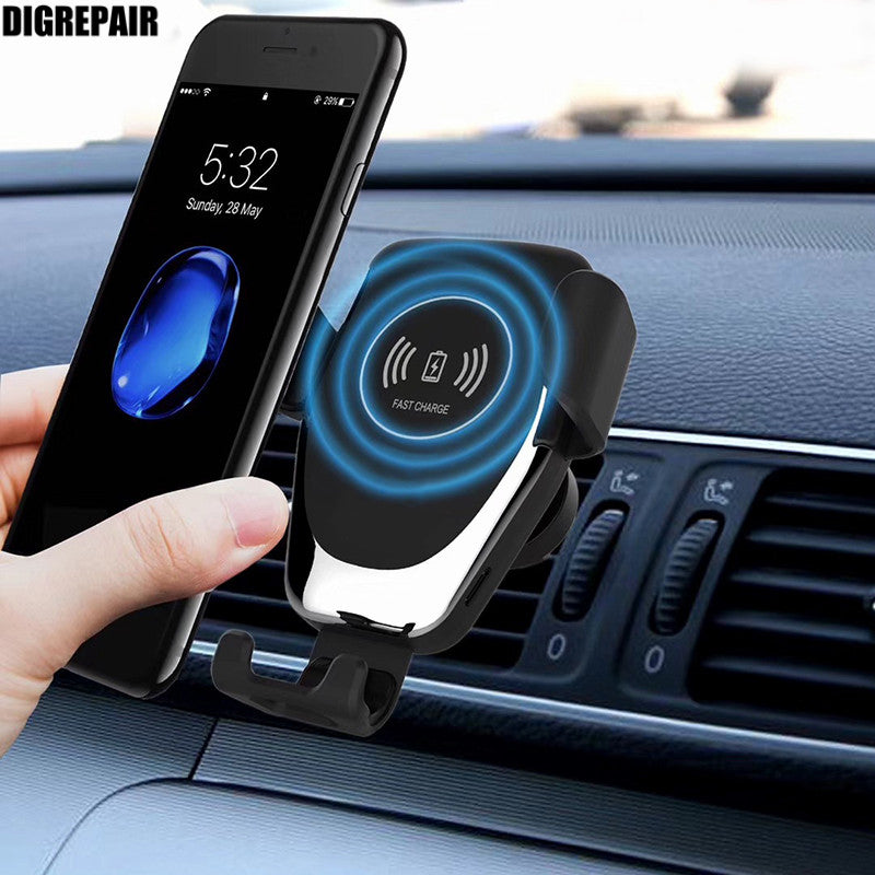 NEW Car Mount Qi Wireless Charger For iPhone XS Max X XR 8 Fast Wireless Charging Car Phone Holder For Samsung Note 9 S9 S8
