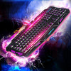 Wired Mechanical Sense Backlit Keyboard Tricolor luminescent Keyboard M200 Internet Cafe Computer Gaming Keyboard - SmartTechShopping