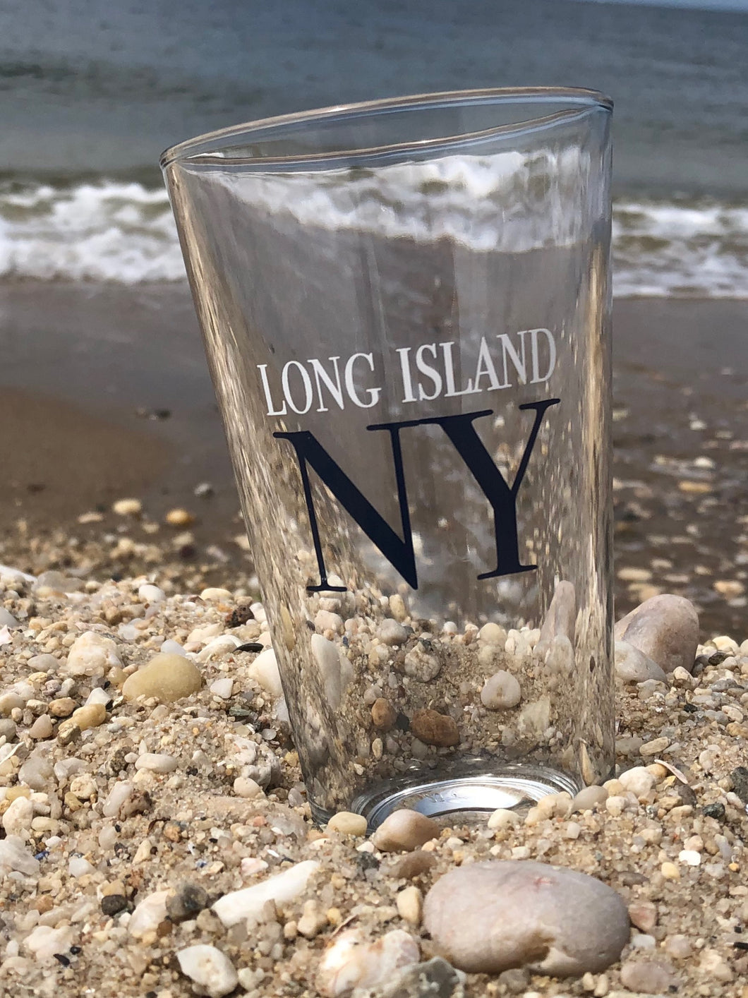 LI Block Text Pint Glass