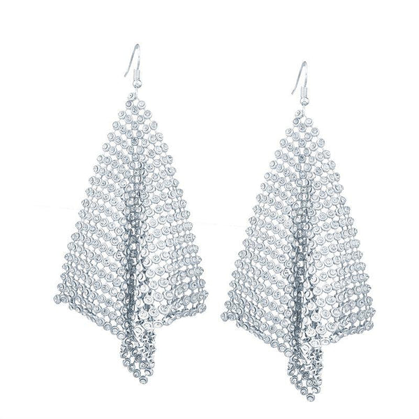 Diamante Alloy Plain Party Earrings