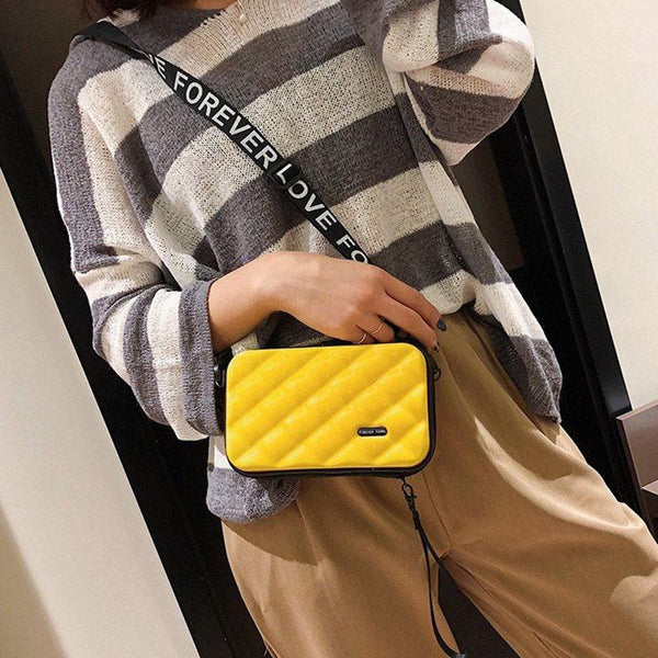Thread Plaid PVC Flap Crossbody Bags