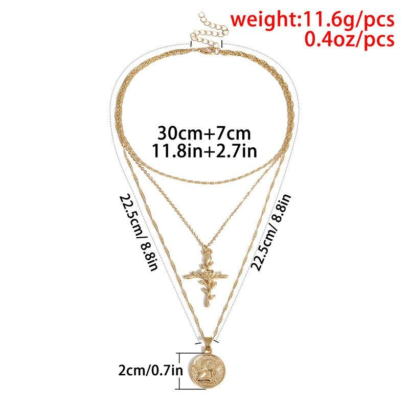 Pendant Necklace Cross Vintage Female Necklaces