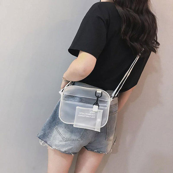 Thread PVC Plain Flap Crossbody Bags