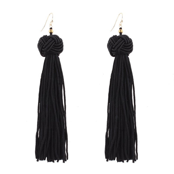 Tassel Alloy Prom Earrings