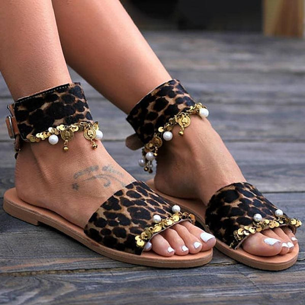 Flat With Buckle Open Toe Vintage Casual Sandals