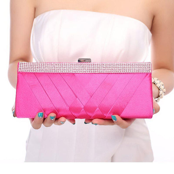 Rectangle Rhinestone Versatile Clutches & Evening Bags