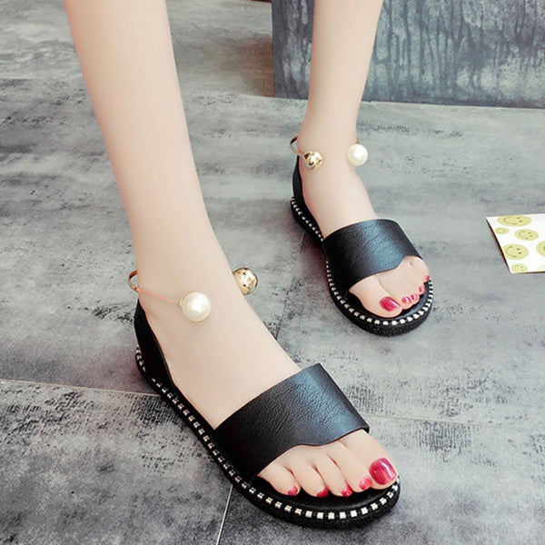Open Toe Slingback Strap Block Heel Slip-On Casual Plain Sandals