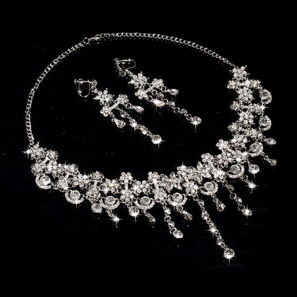 Necklace Korean Plant Engagement Jewelry Sets