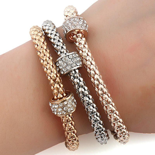 European E-Plating Geometric Female Bracelets