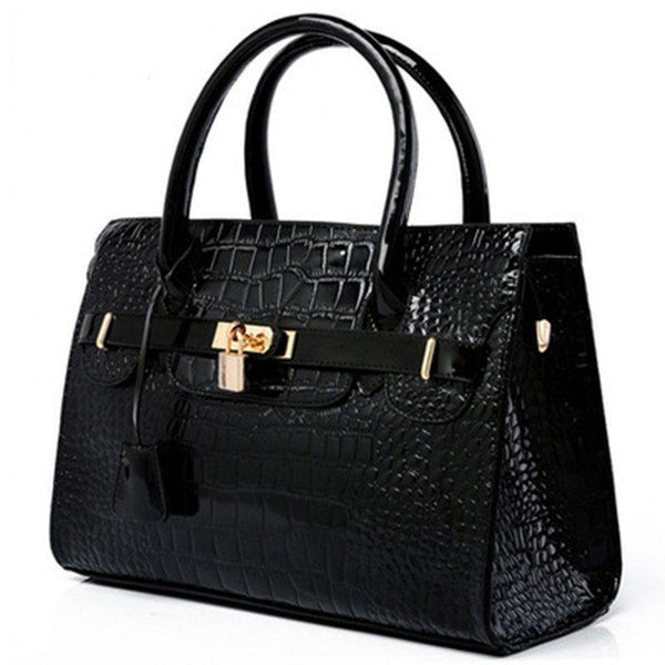 Thread Alligator PU Tote Bags