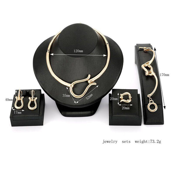 European Earrings E-Plating Gift Jewelry Sets