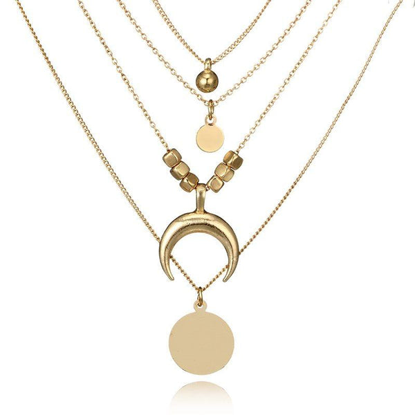 European Geometric Pendant Necklace Female Necklaces