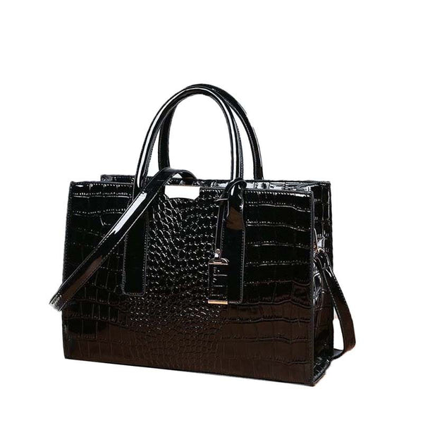 PU Embossing Alligator Square Tote Bags