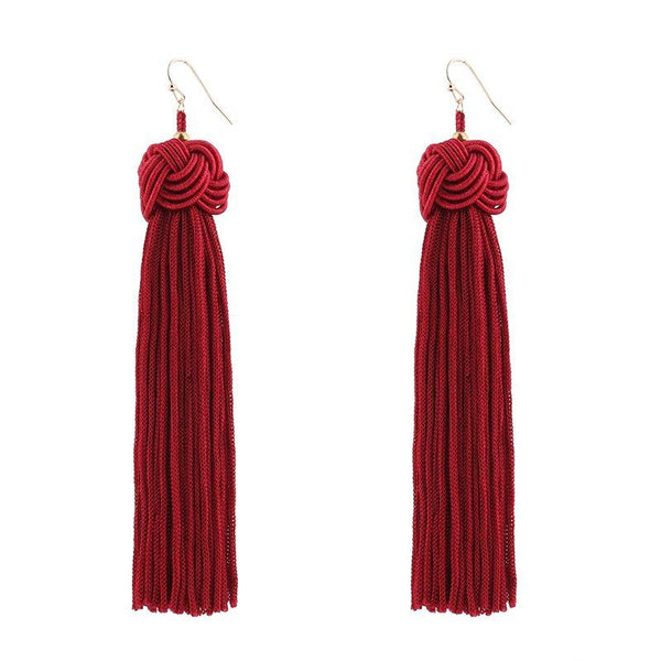 Alloy Tassel Prom Earrings
