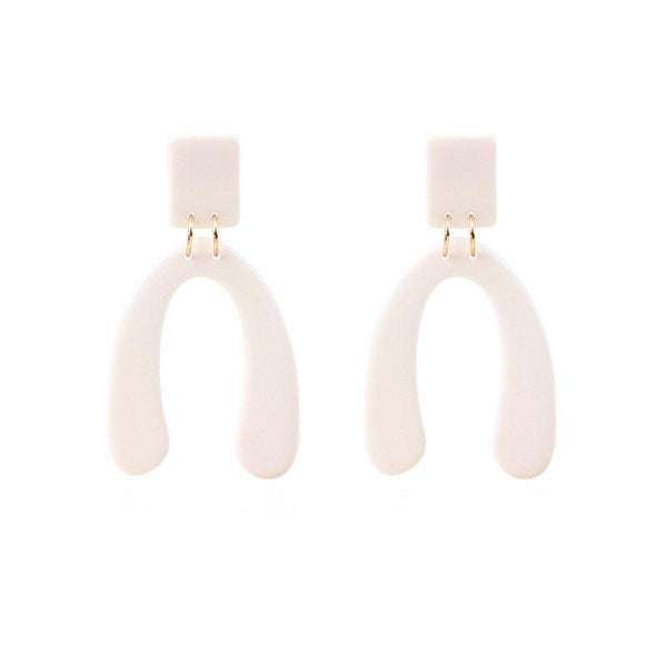 Plain Acrylic Korean Style Earrings