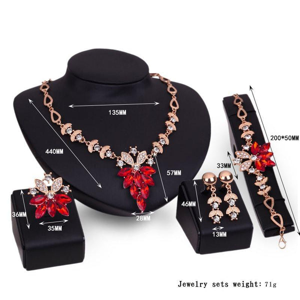 Ring E-Plating Plant Gift Jewelry Sets