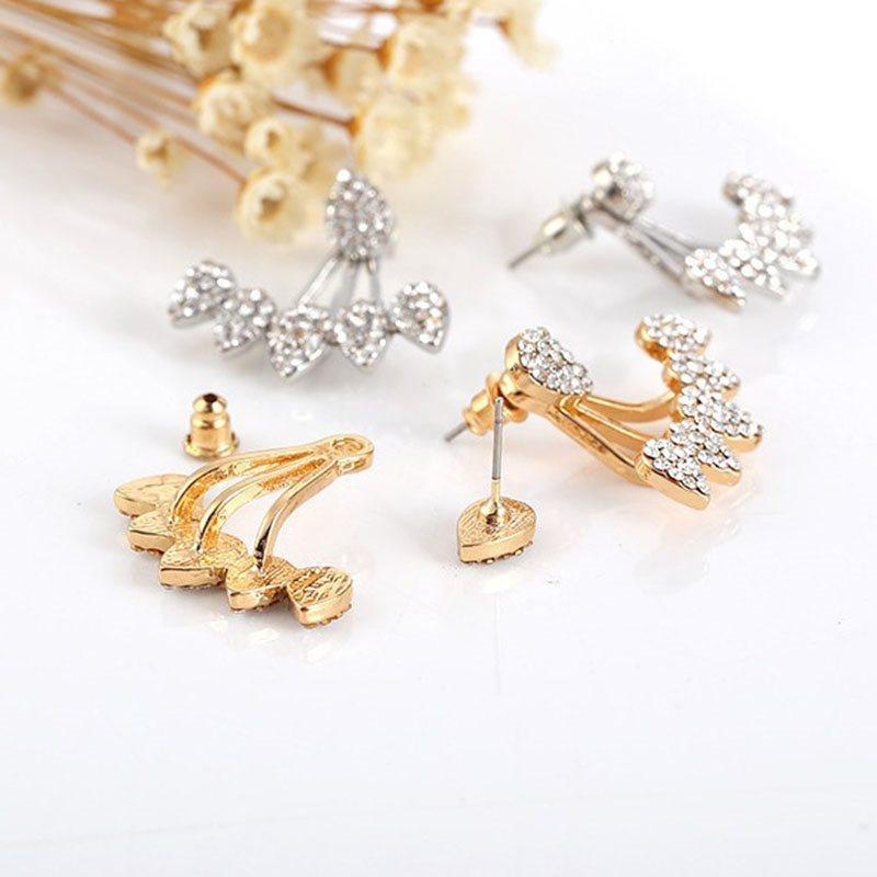 Diamante Water Drop Alloy Anniversary Earrings