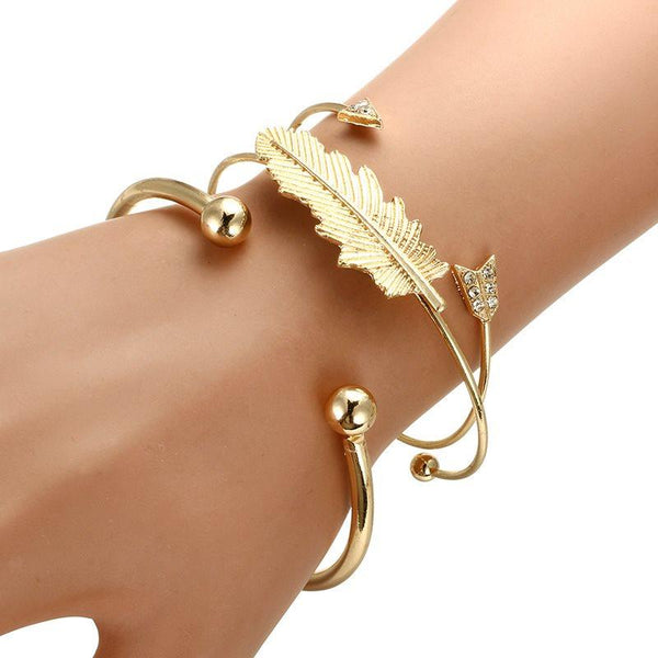 E-Plating Leaf European Female Bracelets