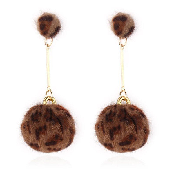 Korean Leopard Alloy Birthday Earrings