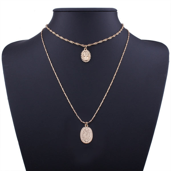 Pendant Necklace Geometric E-Plating Female Necklaces