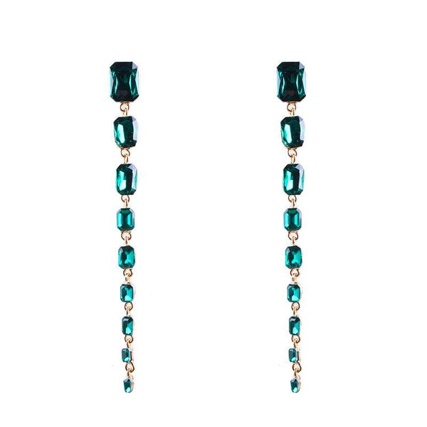 Diamante Geometric Alloy Party Earrings