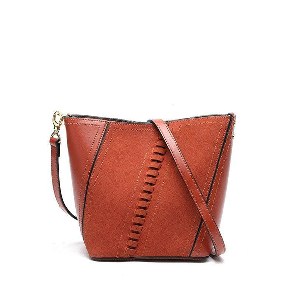 Plain Quilted Lining PU Barrel-Shaped Crossbody Bags
