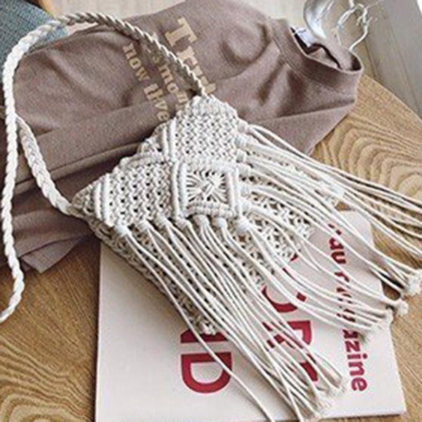 Bohemian Knitted Crossbody Bags