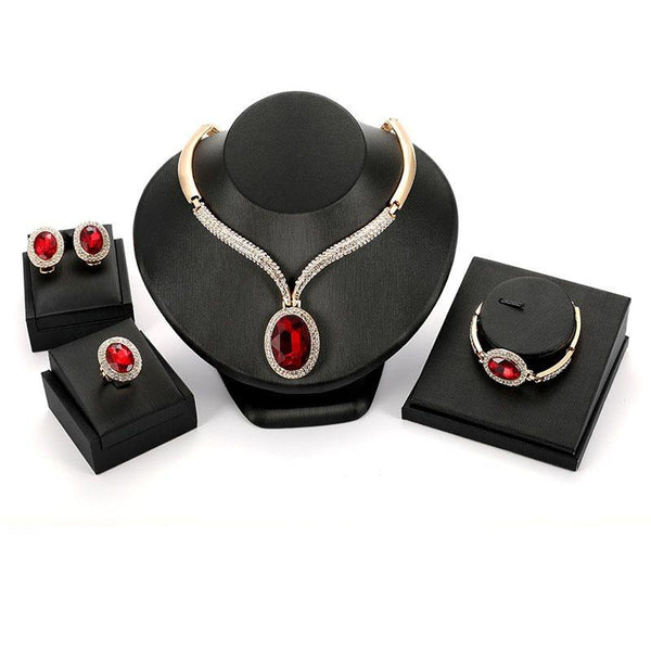 Necklace Geometric E-Plating Wedding Jewelry Sets
