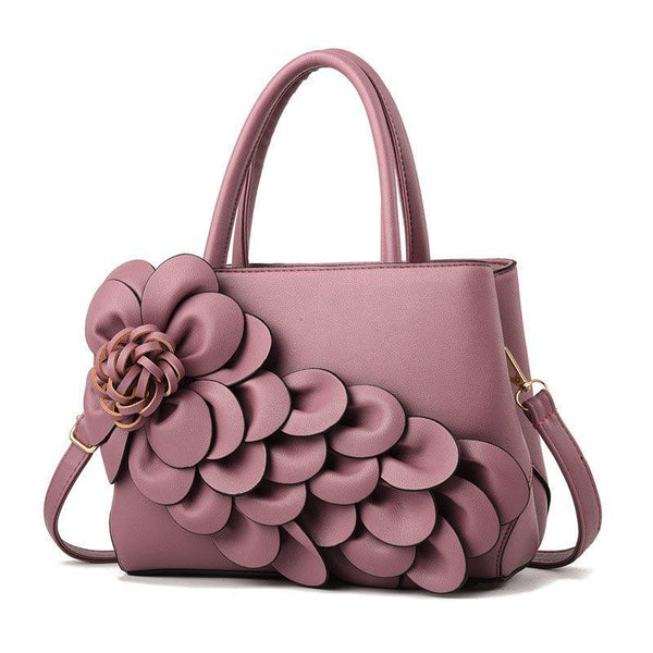 PU Applique Floral Shoulder Bags