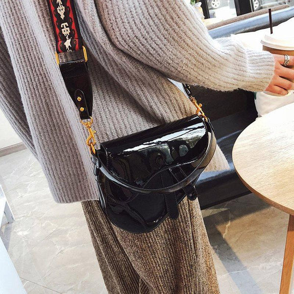 Thread Plain PU Crossbody Bags