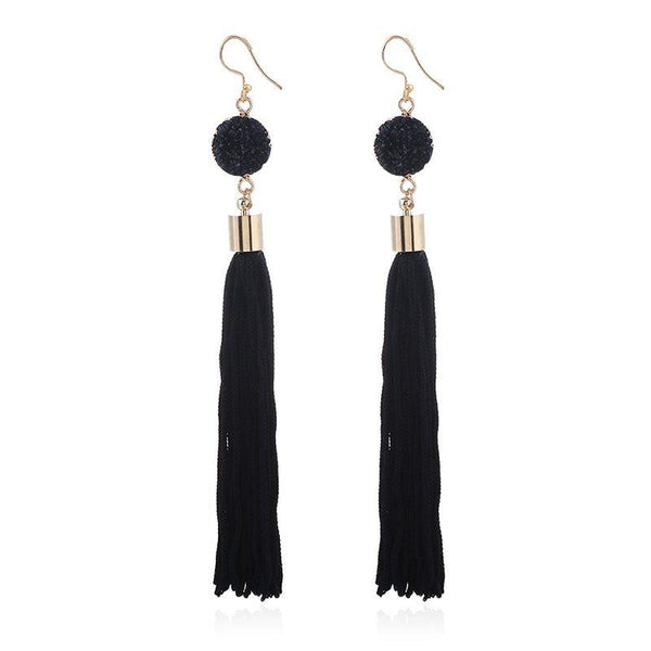 Alloy E-Plating Tassel Earrings