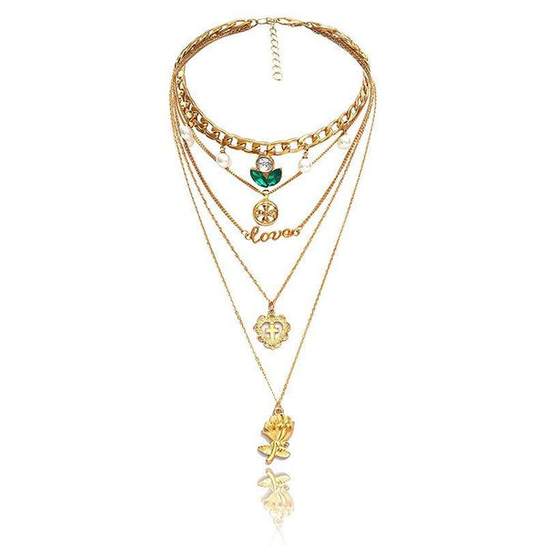 E-Plating Heart-Shaped Pendant Necklace Female Necklaces