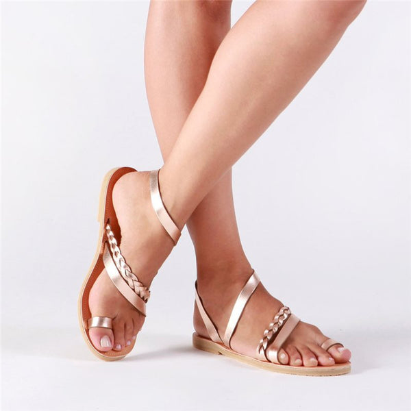 Open Toe Buckle Sandals