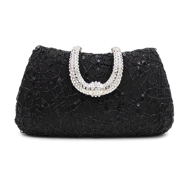 Pillow Rhinestone Banquet European Clutches & Evening Bags