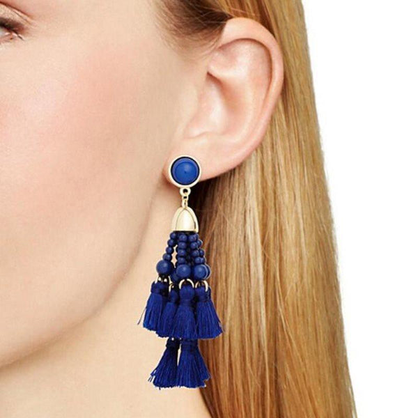 Alloy Geometric Tassel Prom Earrings