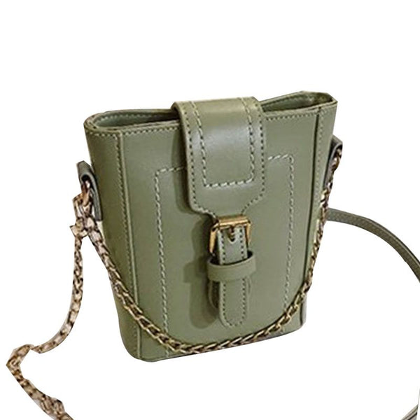 PU Plain Chain Rectangle Crossbody Bags