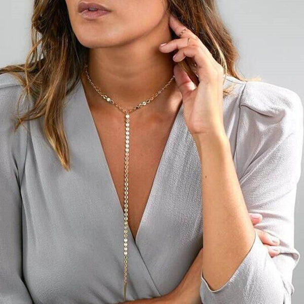 Geometric E-Plating Body Chain Female Necklaces