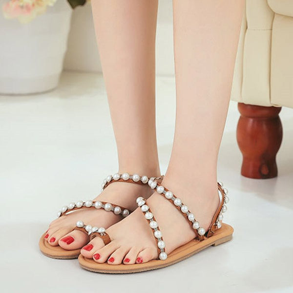 Block Heel Toe Ring Slip-On Slingback Strap Casual Low-Cut Upper Sandals