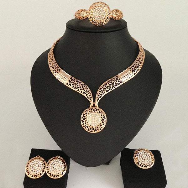 European Necklace Diamante Birthday Jewelry Sets