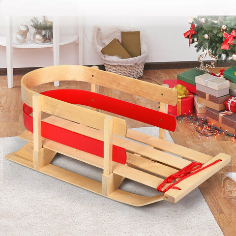 wooden sled