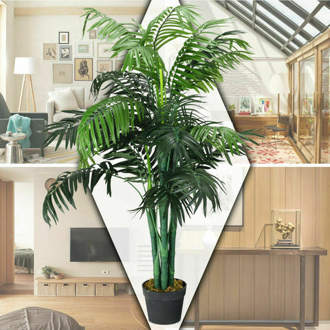 outdoor fake palm trees