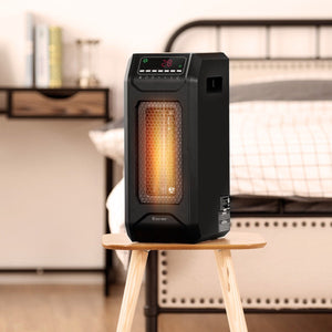 Premium Electric Space Heater Portable Outdoor Garage Heater for Bedroom with Timer - Morealis