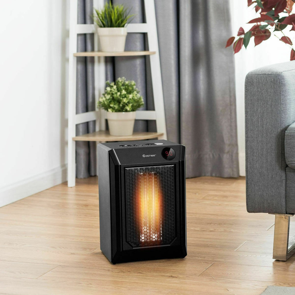 Premium Electric Space Heater Portable Quartz Outdoor Garage Heater for Bedroom - Morealis