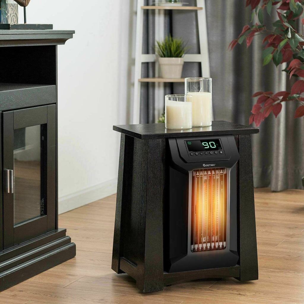 Portable Electric Space Heater Digital Quartz Outdoor Garage Heater Caster for Bedroom - Morealis