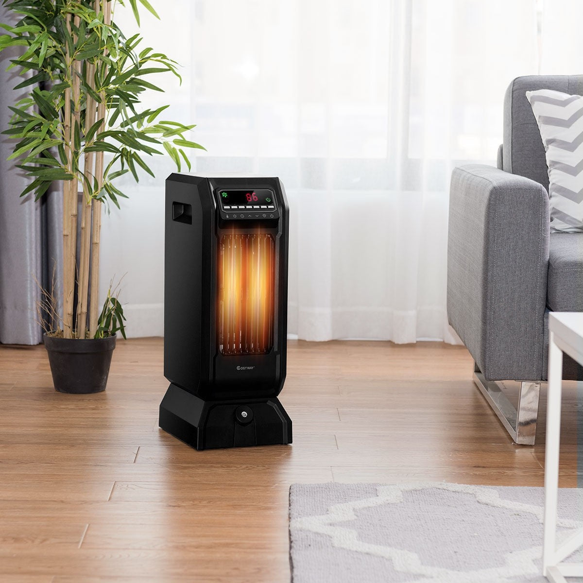 Portable Electric Space Heater Remote Control Indoor Outdoor Garage Heater for Bedroom - Morealis