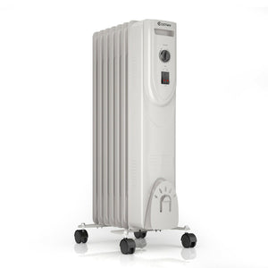 Portable Electric Oil Filled Radiator 1500W Thermostat Heater - Morealis