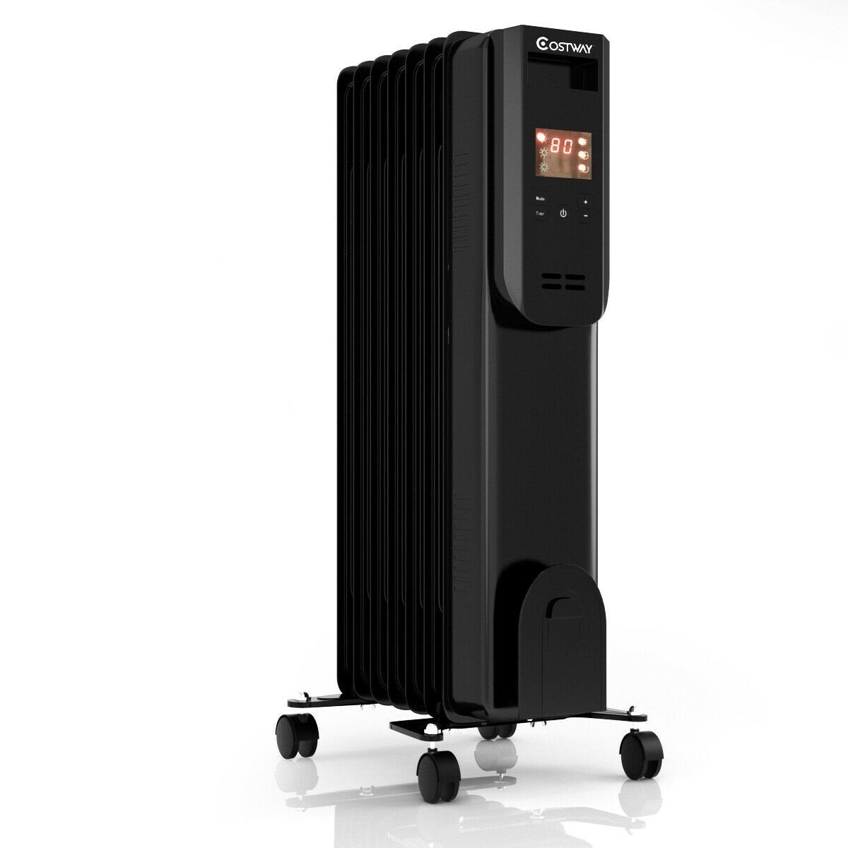 Portable Oil Filled Radiator Electric Oil Thersmostat Heater Remote Control - Morealis