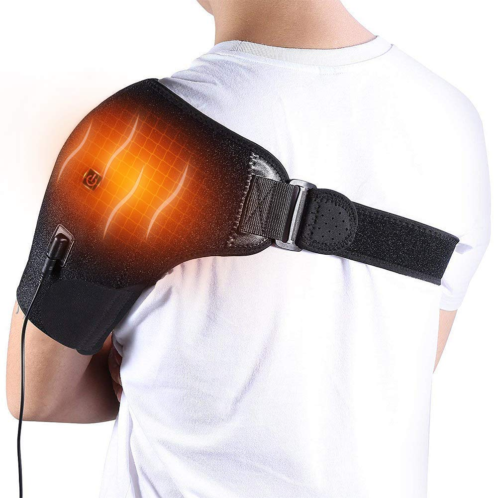 Self Heating Shoulder Wrap Brace Support Thermal Therapy - Morealis