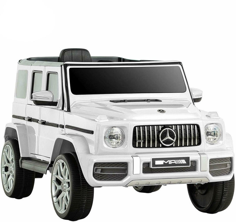 Mercedes White G63 Electric Ride on Car Toys Licensed with Music