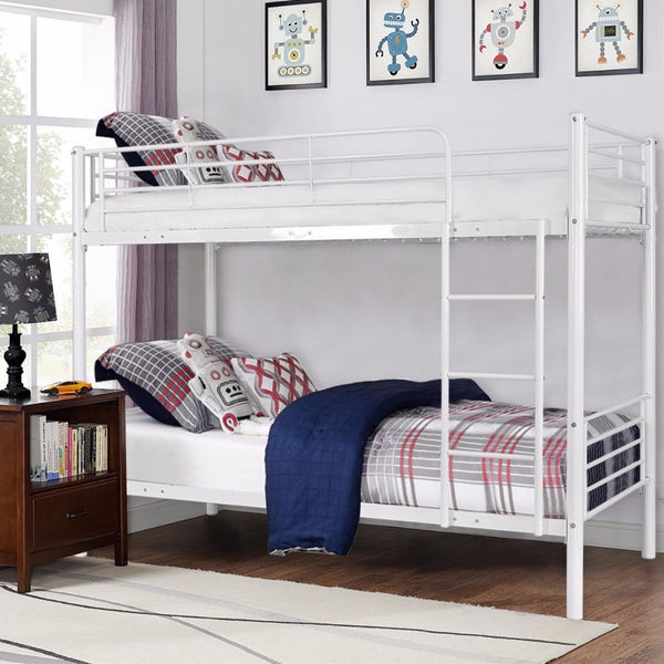 Premium Twin Bunk Bed with Ladder For Kids Toddler Boys/Girls - Morealis